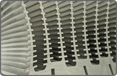 custom parts for the lighting and heat sink industries